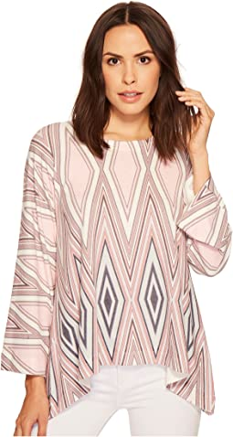 Nally & Millie - Diamond Printed Top