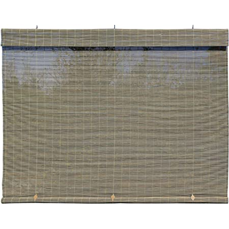 Radiance - Imperial Matchstick Cord Free Roll-Up Shade, Driftwood 60 Inches x 72 Inches