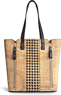 Cork Tote Bag for Women by Limonge - First Edition, Eco-Friendly Vegan