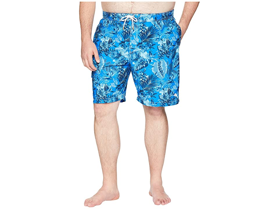 Tommy Bahama Big & Tall Big Tall Baja Selva Shores Swim Trunk (Blue Spark) Men