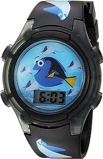 ساعة ديزني كوارتز بسوار بلاستيكي، لون اسود، 22 سم موديل FDO3014