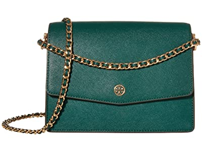 Tory Burch Robinson Convertible Shoulder Bag (Malachite) Handbags