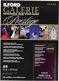 Ilford Gold Fibre Silk Sheets Baryt Photo Paper for Inkjet Printers a4