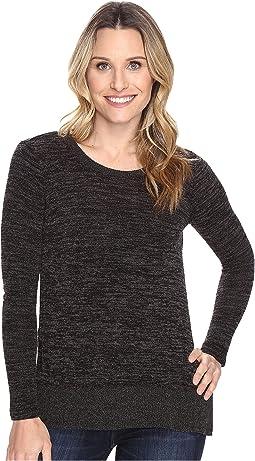 Heather Sweater w/ Rib Long Sleeve Pullover