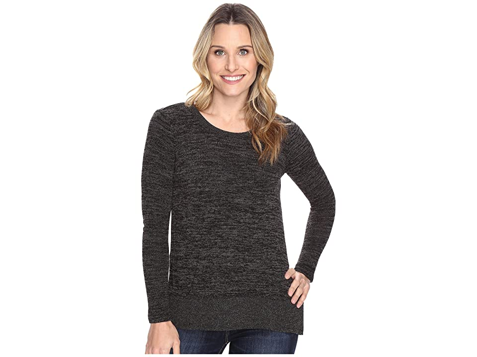 Mod-o-doc Heather Sweater w/ Rib Long Sleeve Pullover (Black Heather) Women