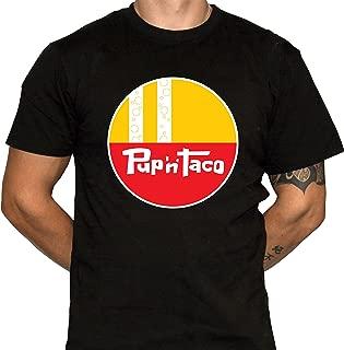 Pup 'N' Taco Shirt Mens Black Cotton Tshirt