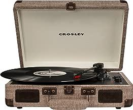 Crosley CR8005D-HA Cruiser Deluxe Portable 3-Speed Turntable with Bluetooth, Havana