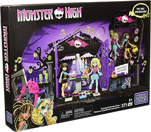 Mattel Mega Bloks CNF83 Monster High Friedhof - Gartenparty Set mit 371 Teilen