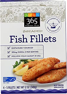 365 Everyday Value, Wild-Caught Breaded Fish Fillets, 12 oz (Frozen)
