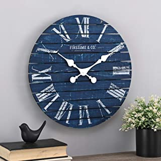FirsTime & Co. Navy Augustus Farmhouse Shiplap Clock, American Designed, Navy, 18 x 2..