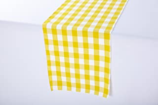 yellow gingham table runner