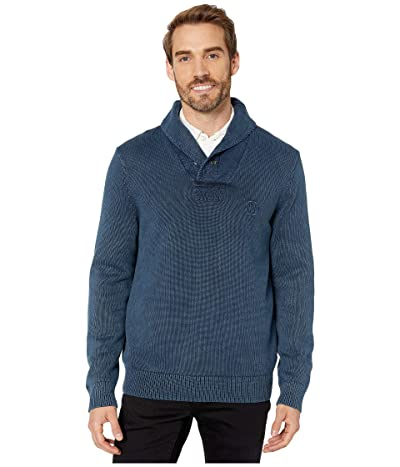 Nautica Garment Enzyme Wash Sweater (True Navy) Men