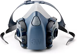 3M Reusable Respirator, Half Face Piece 7501, Use with Bayonet Cartridges/Filters (Not Included) for Gases, Vapors, Dust, ...