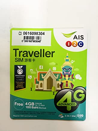 Amazon.com: AIS Thailand Traveller SIM cards 30 GB non-stop ...