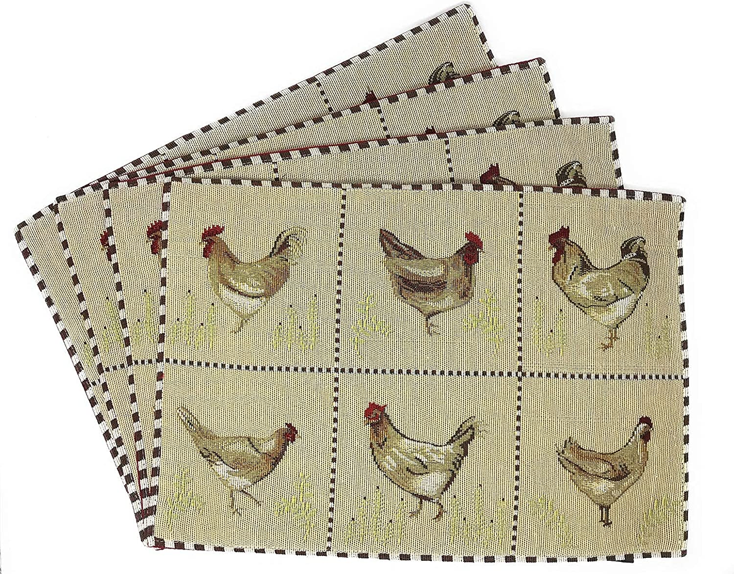 Tache Country Farmhouse Fort Worth Mall Rooster Hens Chickens Antique Tr Year-end gift Vintage