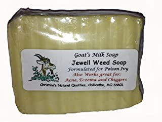 Jewelweed Goat's Milk Soap for Poison Ivy, Poison Oak - 4oz. Bar