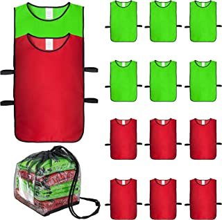 Norker Soccer Pennies,  Set of 12 Pinnies Adults and Youth,  Scrimmage Jerseys