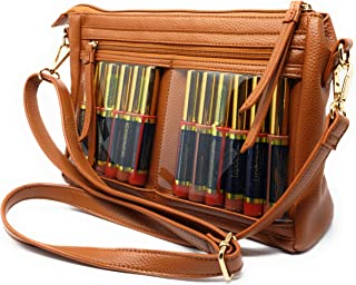 CariWare Crossbody Display Tote and Lipstick Organizer Bag for Lipsense, Younique, and MLM Makeup Supplies - 10