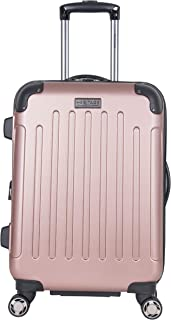 Heritage Logan Square Hardsiandable Spinner Checked Luggage, Rose Gold (Pink) - 882642RG
