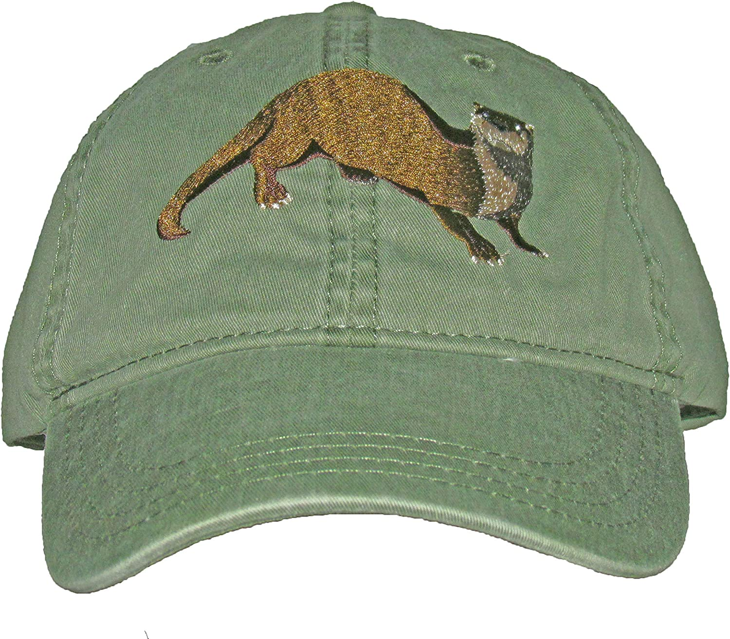 Tom's Bird Feeders Super popular specialty store River Otter Cap Cotton Embroidered Green cheap