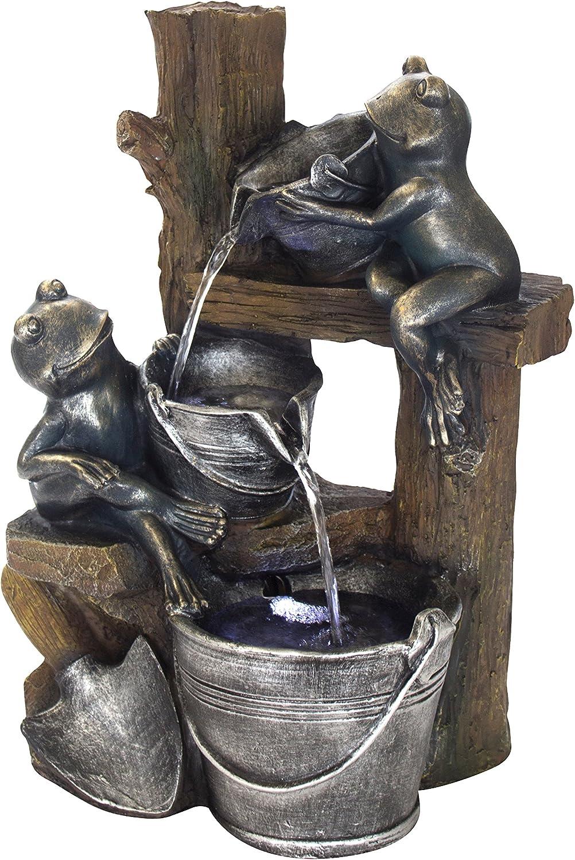 DARO DEKO Brunnen Set mit Stromstecker und Pumpe (G) Frsche