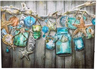 flickering Light Seaside Collection Wall canvas Plaque