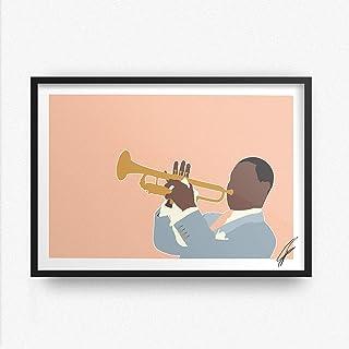 Ilustración inspirada en Louis Armstrong.