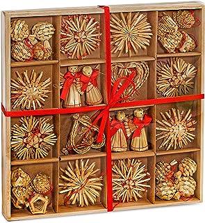 comprar comparacion Brubaker de 48Piezas. Estrellas de Paja Set Joyas Árbol de Navidad de Paja–hasta 6,5cm Estrellas Grandes Corazones Paj...