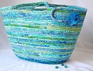 Jade Batik Handbag, Handmade by Wexford Treasures, Unique, Designer Turquoise Tote Bag