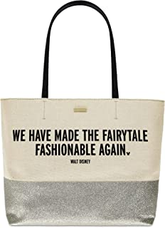 We Have Made the Fairytale Fashionable Again'' Canvas Glitter Tote Bag by kate spade new york