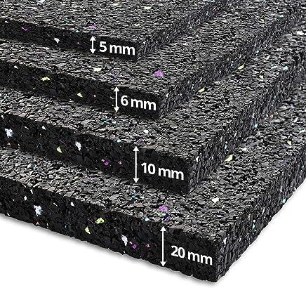Tapis anti vibration etm® 60x60cm   caoutchouc isonoriant, isolant   idéal machine à laver, batterie, etc.   5, 20 ou 20mm d'épaisseur - 20mm