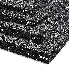 Tapis anti vibration etm® 60x60cm | caoutchouc isonoriant, isolant | idéal machine à laver, batterie, etc. | 5, 20 ou 20mm d'épaisseur - 20mm