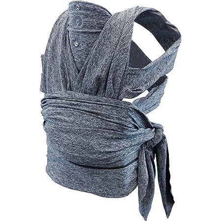 Fascia Portabeb/è Tricot Slen Bamb/ù Extra Soft Elasticizzata Ipoallergenica Antibatterica Blue Fog
