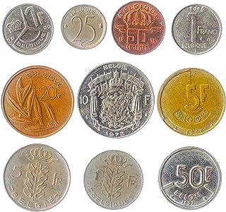 10 عملات قديمة من بلجيكا. القطع النقدية القابلة للتحصيل: القطعان الفرنسيون ، القطع النقدية القديمة لعقد سينتيمز 1948-2001.