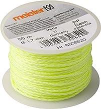 Meister Metselaarsnoer neon geel - 50 m lengte - Ø 1,7 mm - gevlochten polypropyleen - knoopvast - scheurvast & belastbaar...