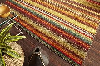 Mohawk Home New Wave Boho StripePrinted Rug, 2'x8', Multicolor