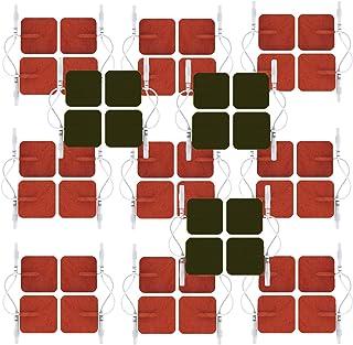 HealthmateForever 12 pares uno mismo palo recambio masaje electrodo larga vida clavija de inserción-Plaza almohadillas para pulso Palma masajeador Digital rojo