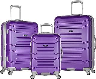 Olympia Denmark 3 Piece Luggage Set, Purple