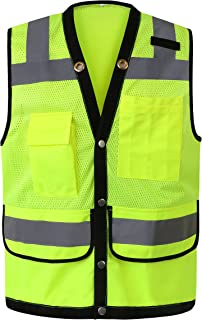 Uninova Safety Vest High Visibility - Class 2 Reflective Vest for Men & Women - ANSI/ISEA Standards