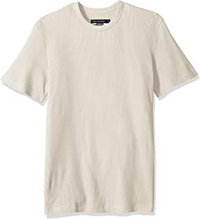 French Connection Mens 56LBR Men's Waffle Jersey Tee Short Sleeve T-Shirt