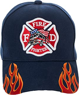 Artisan Owl Fire Fighter Fire Department Rescue Flames Baseball Cap Hat