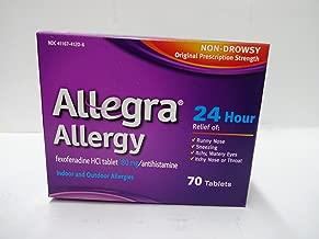 Allegra Allergy Original Prescription Strength 180mg - 70 Count