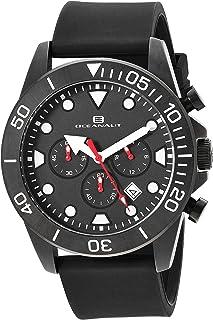 Oceanaut Men's Naval Stainless Steel Quartz Silicone Strap, Black, 23.6 Casual Watch (Model: OC1310)
