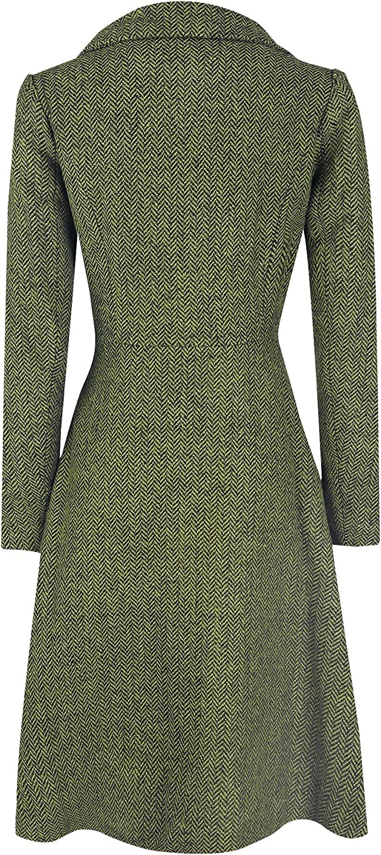 Voodoo Vixen Nicole Green 40s Style Coat Frauen Mantel Oliv Rockabilly Oliv