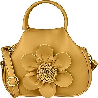 TAP FASHION Women's 3d Flower Multi Pocket Potli Handbag and Sling Bag with Adjustable Strap
