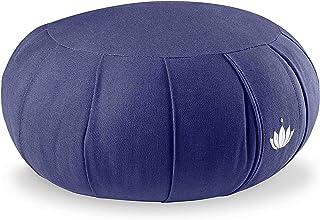 Lotuscrafts Zafu Meditation Cushion Kapok Delight - Height 15 cm - Kapok Filling - Washable Cover Organic Cotton - Floor C...