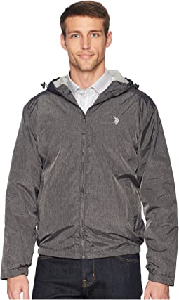 Heather Hooded Windbreaker