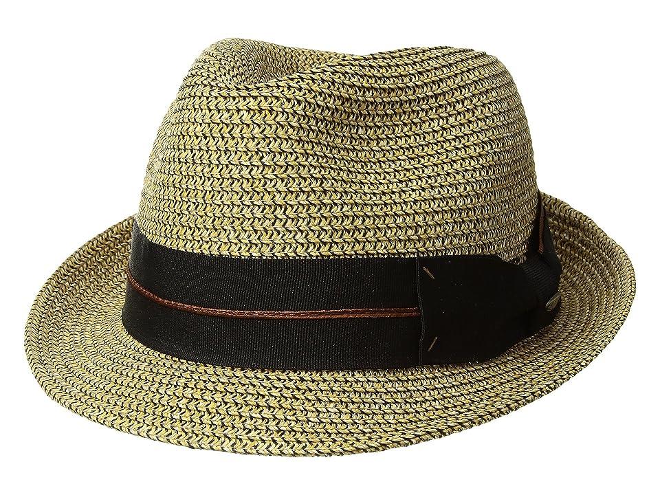 SCALA Mix Braid Fedora (Brown) Caps