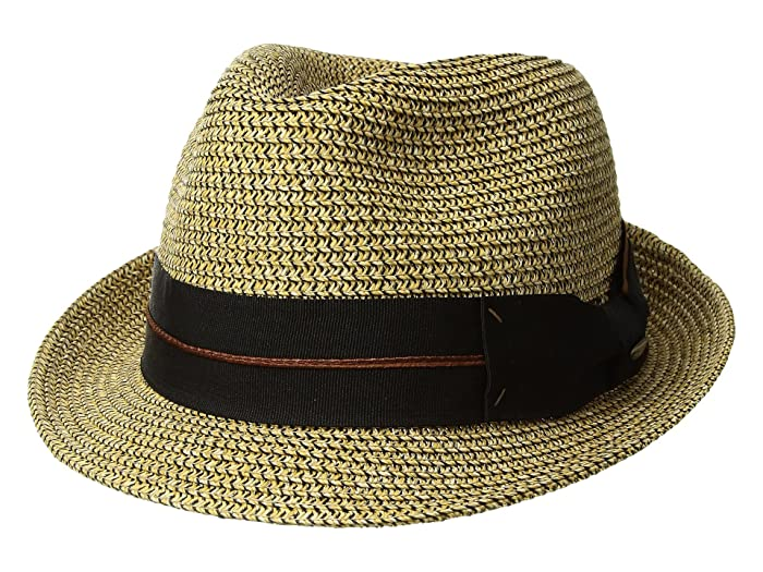 SCALA Mix Braid Fedora (Brown) Caps