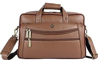 Hammonds Flycatcher Genuine Leather Men's Laptop Messenger Bag LB166BS (Burlywood)